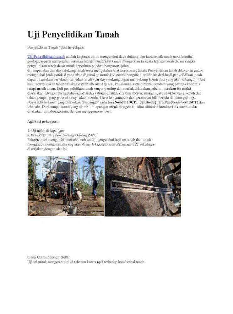 95535732 Penyelidikan Tanah