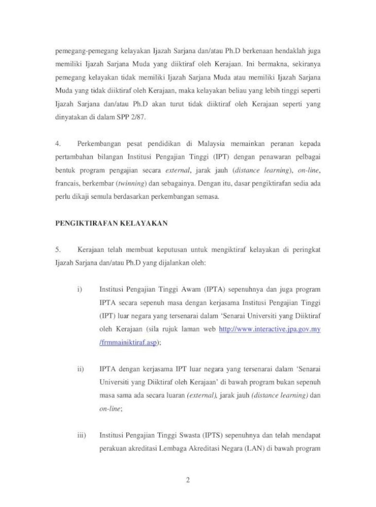 Kerajaan Malaysia Pekeliling Perkhidmatan Bil 8 M Eng Dari Universiti Universiti Di United Kingdom